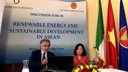 Hợp tác ASEAN, Việt Nam và Italy về năng lượng tái tạo và bền vững