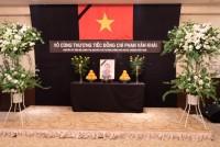 Tổ chức trọng thể Lễ viếng nguyên Thủ tướng Phan Văn Khải ở nước ngoài