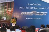 Thủ tướng dự lễ khởi công Dự án Tổ hợp sản xuất ô tô VINFAST