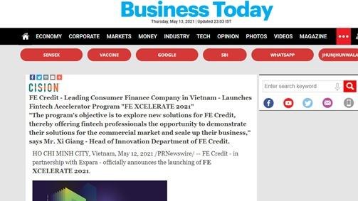 Cuộc thi khởi nghiệp về tín dụng của Việt Nam thu hút truyền thông quốc tế