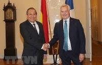 Phó Thủ tướng Trương Hòa Bình hội kiến Thủ tướng Phần Lan Antii Rinne