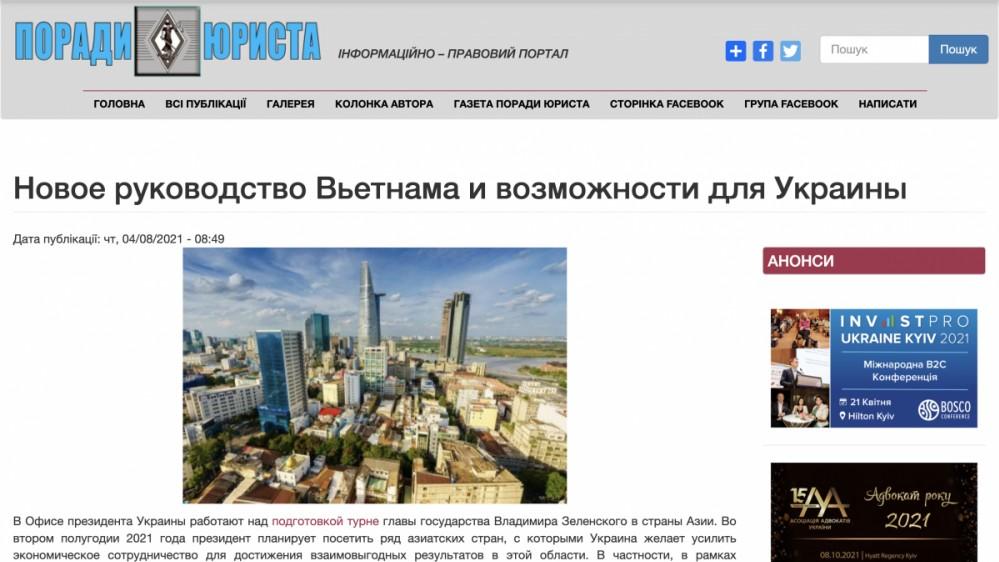 Truyền thông Ukraine: Vị thế của Việt Nam trên trường quốc tế ngày càng cao
