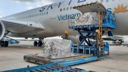 Hơn 200.000 bộ kít xét nghiệm nhanh Covid-19 Đức trao tặng Việt Nam đã tới sân bay Tân Sơn Nhất