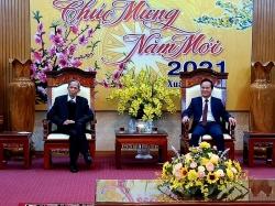 Đoàn Bộ Ngoại giao chúc Tết và dâng hương tại Khu Di tích tại Tuyên Quang
