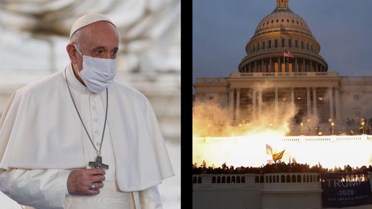 Giáo hoàng Francis bị sốc trước vụ bạo loạn tại trụ sở Quốc hội Mỹ