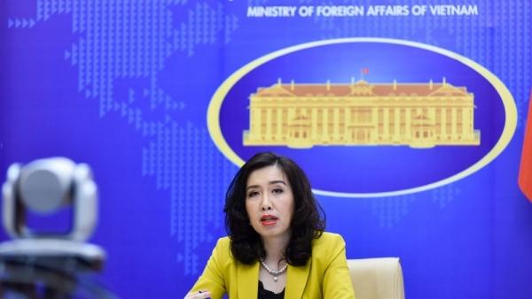 Bộ Ngoại giao lên tiếng về việc tàu chiến Mỹ di chuyển gần Hoàng Sa và Trường Sa của Việt Nam