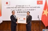 Việt Nam trao 140.000 khẩu trang y tế, hỗ trợ vật tư y tế lần hai cho Nhật Bản chống Covid-19