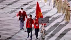 Video đoàn thể thao Việt Nam diễu hành tại Olympic Tokyo 2020