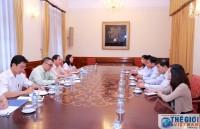 Thứ trưởng thường trực Bùi Thanh Sơn tiếp Đoàn công tác tỉnh Đồng Tháp