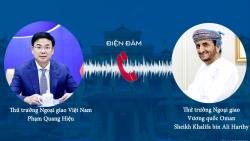 Thứ trưởng Ngoại giao Phạm Quang Hiệu điện đàm với Thứ trưởng Ngoại giao Oman