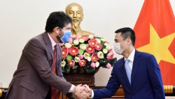 Thứ trưởng Ngoại giao Đặng Hoàng Giang tiếp Trưởng đại diện UNESCO tại Việt Nam