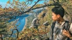 Ngắm mùa Thu đẹp 'nhức mắt' từ cầu đá Bastei