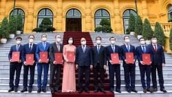Những hình ảnh tại buổi lễ trao quyết định bổ nhiệm cho 8 Đại sứ Việt Nam tại nước ngoài nhiệm kỳ 2021-2024