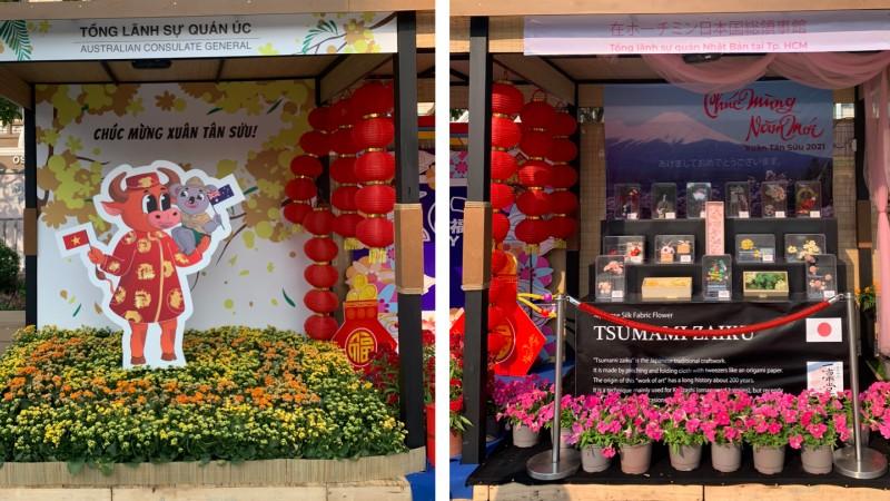Ngoại giao Văn hoá trong tình hình mới: Góc Quốc tế trên đường hoa Nguyễn Huệ năm Tân Sửu