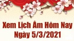 Lịch âm 5/3 - Xem âm lịch hôm nay thứ 6 ngày 5/3/2021 chính xác nhất - Lịch vạn niên 5/3/2021