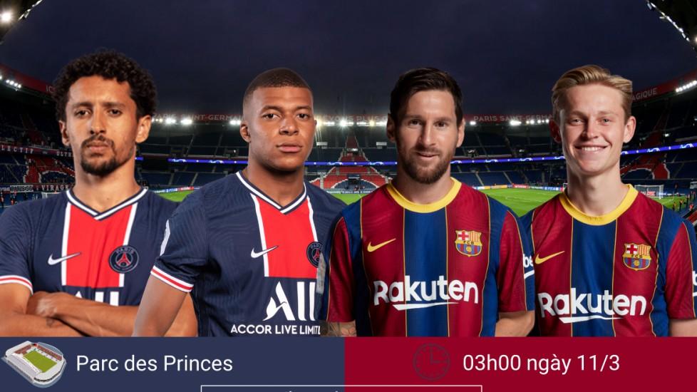 Dự đoán tỷ số, đội hình xuất phát trận Paris Saint-Germain - Barca