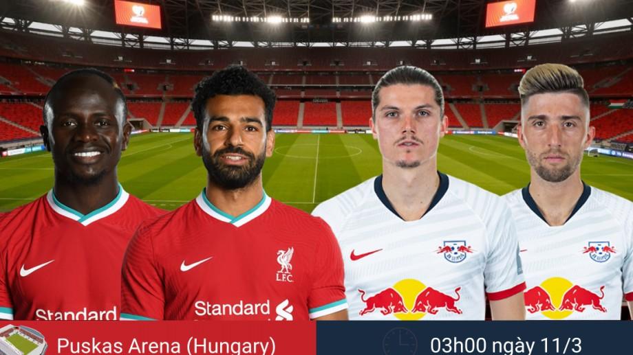 Dự đoán tỷ số, đội hình xuất phát trận Liverpool - RB Leipzig 3h00 đêm nay