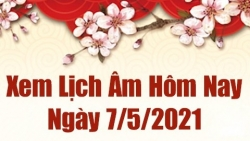 Lịch âm 7/5 - Xem âm lịch hôm nay thứ 6 ngày 7/5/2021 chính xác nhất - Lịch vạn niên 7/5/2021