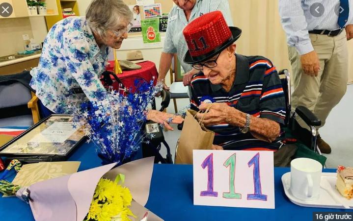 Cụ ông cao tuổi nhất Australia tiết lộ bí quyết sống thọ