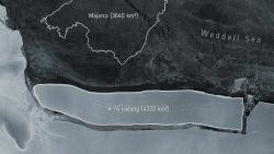 Phát hiện tảng băng trôi lớn nhất thế giới, dài 170 km và rộng 25 km, vừa tách ra ở Nam Cực