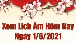 Lịch âm 1/6 - Xem âm lịch hôm nay thứ 3 ngày 1/6/2021 chính xác nhất - Lịch vạn niên 1/6/2021