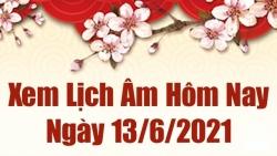 Lịch âm 13/6 - Xem âm lịch hôm nay Chủ nhật 13/6/2021 chính xác nhất - Lịch vạn niên 13/6/2021