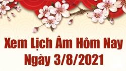 Lịch âm 3/8 - Xem âm lịch hôm nay thứ 3 ngày 3/8/2021 chính xác nhất - Lịch vạn niên 3/8/2021
