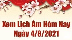 Lịch âm 4/8 - Xem âm lịch hôm nay thứ 4 ngày 4/8/2021 chính xác nhất - Lịch vạn niên 4/8/2021