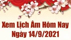 Lịch âm 14/9, xem âm lịch hôm nay thứ 3 ngày 14/9/2021 chính xác nhất