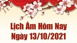 Lịch âm 13/10, Xem âm lịch hôm nay thứ 4 ngày 13/10/2021 chính xác nhất. Lịch vạn niên