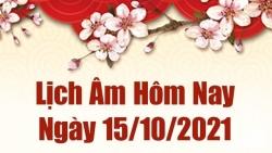 Lịch âm 15/10, Xem âm lịch hôm nay thứ Sáu ngày 15/10/2021 chính xác nhất. Lịch vạn niên