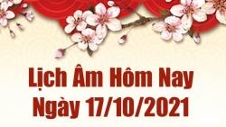 Lịch âm 17/10, Xem âm lịch hôm nay Chủ nhật ngày 17/10/2021 chính xác nhất. Lịch vạn niên