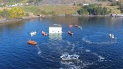 Canada: Cặp đôi di chuyển ngôi nhà đến nơi mới bằng thuyền