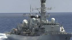 Tàu chiến của Anh băng qua Eo biển Đài Loan đến thăm Việt Nam