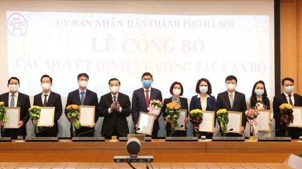 Thành phố Hà Nội điều động, bổ nhiệm 11 lãnh đạo sở, ngành