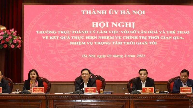 Tập trung nguồn lực xây dựng Thủ đô Hà Nội là trung tâm văn hóa lớn của đất nước