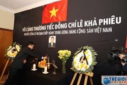 Đại sứ quán Việt Nam tại Nam Phi và Tanzania tổ chức lễ viếng nguyên Tổng Bí thư Lê Khả Phiêu