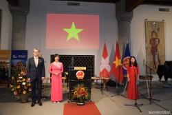 Đại sứ quán Việt Nam tại Thụy Sỹ long trọng kỷ niệm 76 năm Quốc khánh và 50 năm quan hệ ngoại giao