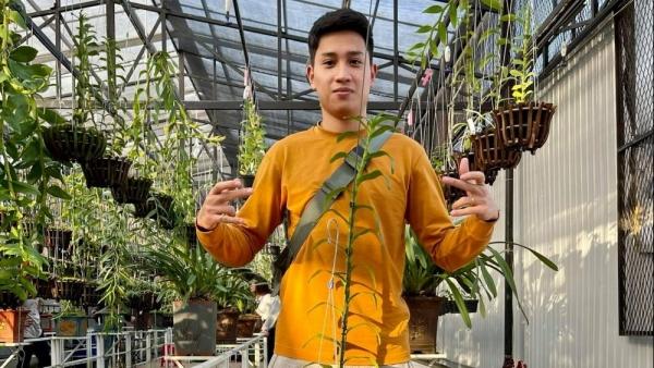Ông chủ vườn lan 9X Trần Hồ Quang và niềm đam mê hoa phong lan