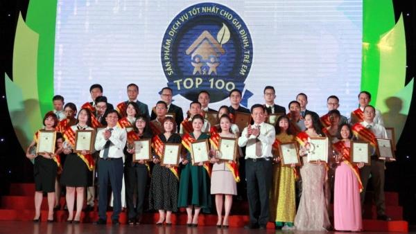 Chương trình bình chọn 'Top 100 - Sản phẩm, Dịch vụ tốt nhất cho Gia đình, Trẻ em'