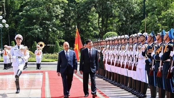 Lễ đón nguyên thủ quốc gia tại Phủ Chủ tịch diễn ra như thế nào?