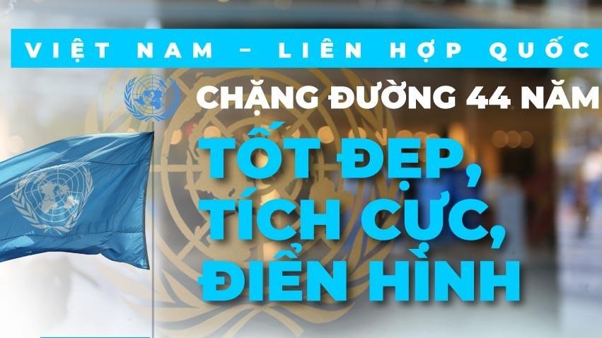 Việt Nam-Liên hợp quốc: Chặng đường 44 năm tốt đẹp, tích cực, điển hình