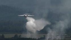 Hình ảnh đầu tiên về máy bay cứu hỏa Be-200 của Bộ Quốc phòng Nga rơi ở Thổ Nhĩ Kỳ, 8 người thiệt mạng