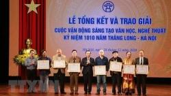 55 tác phẩm đoạt giải sáng tạo văn học, nghệ thuật kỷ niệm 1010 năm Thăng Long-Hà Nội