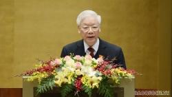 Chủ tịch nước Nguyễn Phú Trọng trình bày Báo cáo công tác nhiệm kỳ 2016-2021