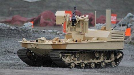 Nga sáng tạo robot cung cấp đạn cho xe tăng