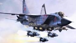Máy bay đánh chặn MiG-31 của Nga được trang bị tên lửa cận chiến