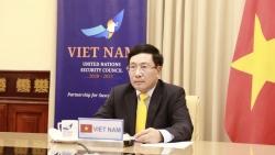 Phó Thủ tướng, Bộ trưởng Ngoại giao Phạm Bình Minh tham dự Phiên họp trực tuyến cấp cao Hội đồng Bảo an LHQ
