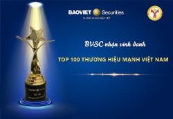 Chứng khoán Bảo Việt vào Top 100 thương hiệu mạnh Việt Nam