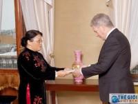 Đại sứ Phạm Thị Ngọc Bích trình Quốc thư lên Tổng thống Phần Lan